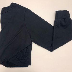 Asos crossed black cropped sweatshirt/sweater